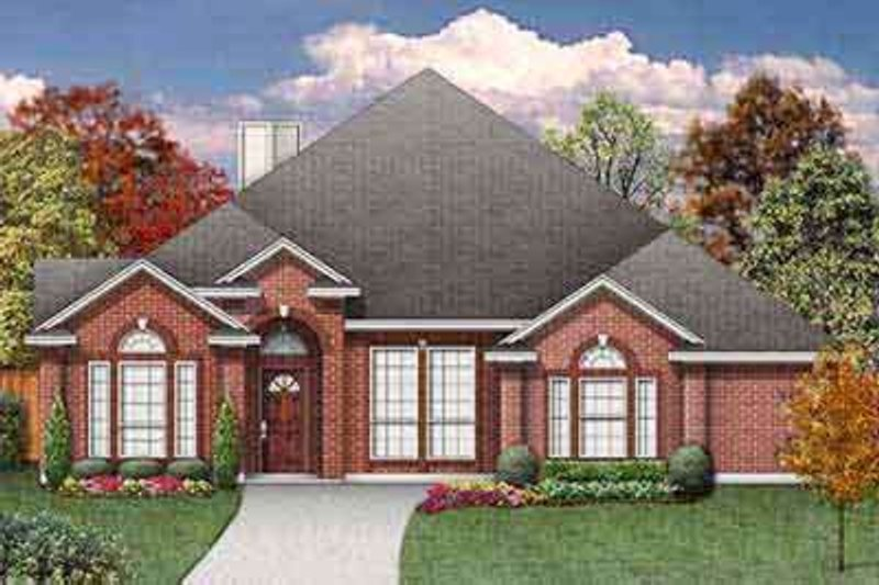 Traditional Exterior - Front Elevation Plan #84-218 - Houseplans.com