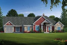 Ranch Exterior - Front Elevation Plan #20-2303