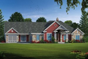 Architectural House Design - Ranch Exterior - Front Elevation Plan #20-2303