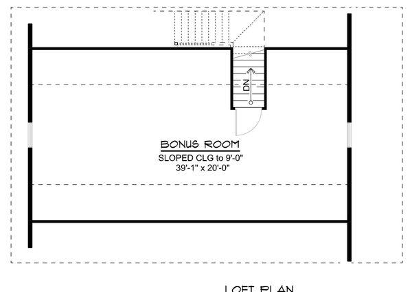Dream House Plan - Country Floor Plan - Upper Floor Plan #1064-77