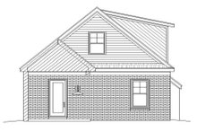 Cottage Exterior - Rear Elevation Plan #932-24