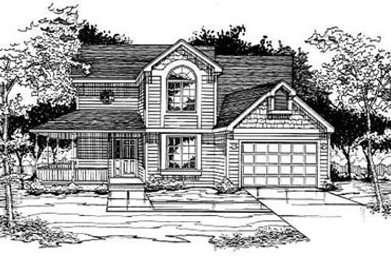 Traditional Exterior - Front Elevation Plan #50-229