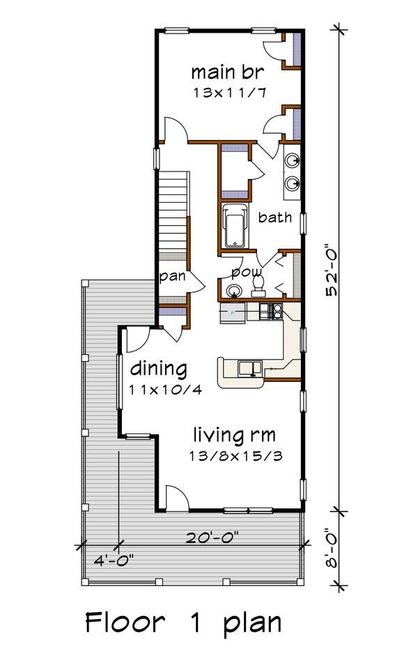 Country Floor Plan - Main Floor Plan Plan #79-270