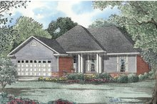 Country Exterior - Front Elevation Plan #17-2709