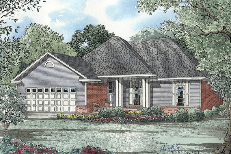 House Plan Design - Country Exterior - Front Elevation Plan #17-2709