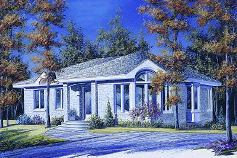 Cottage Exterior - Front Elevation Plan #23-858