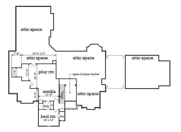 European Floor Plan - Upper Floor Plan Plan #45-379