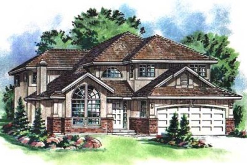 European Style House Plan - 5 Beds 2.5 Baths 2374 Sq/Ft Plan #18-9434 Exterior - Front Elevation