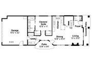 Contemporary Style House Plan - 3 Beds 2.5 Baths 1688 Sq/Ft Plan #124-1129 Floor Plan - Main Floor Plan