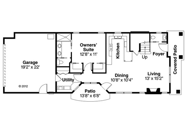 Contemporary Floor Plan - Main Floor Plan Plan #124-1129