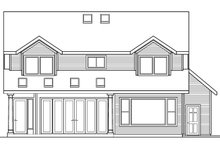 Home Plan - Traditional Exterior - Rear Elevation Plan #124-346