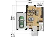 Contemporary Style House Plan - 3 Beds 1 Baths 1607 Sq/Ft Plan #25-4347 Floor Plan - Main Floor Plan
