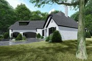 European Style House Plan - 4 Beds 3.5 Baths 3068 Sq/Ft Plan #923-139 Exterior - Other Elevation