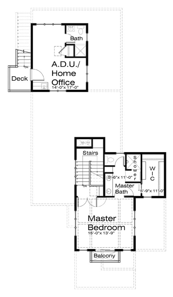 Craftsman Floor Plan - Upper Floor Plan Plan #434-8