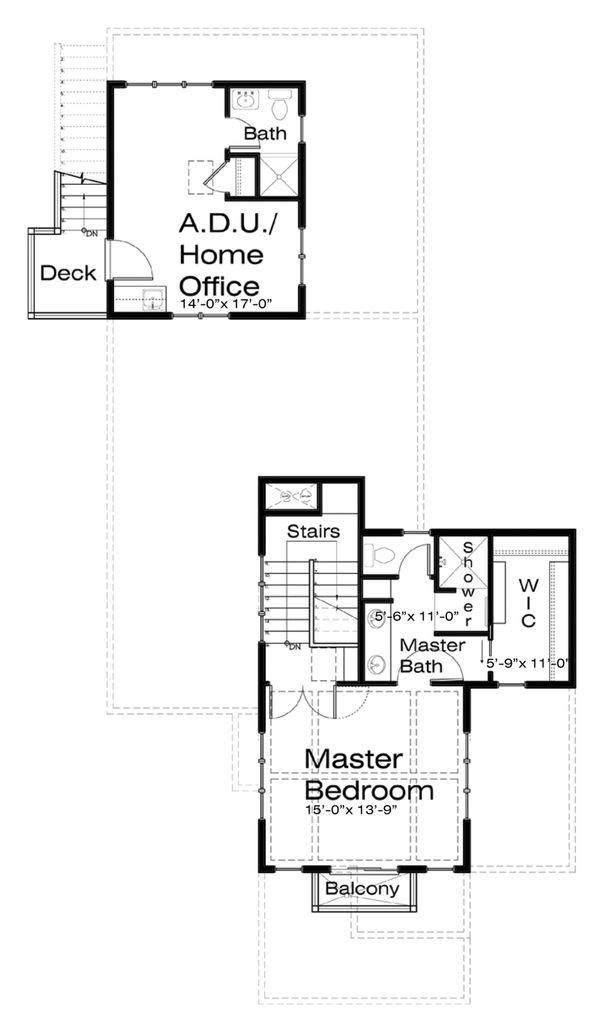 Craftsman Floor Plan - Upper Floor Plan Plan #434-8