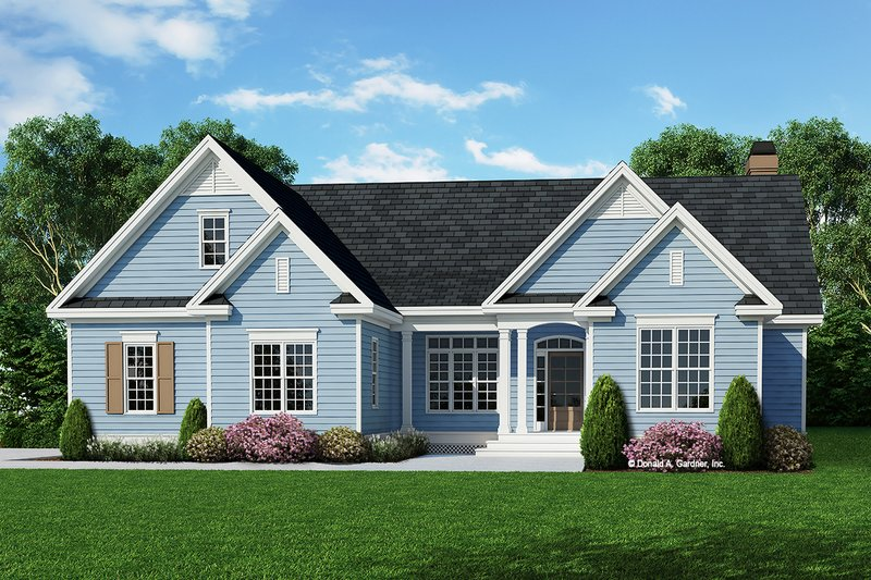 Ranch Style House Plan - 3 Beds 2 Baths 1650 Sq/Ft Plan #929-514 Exterior - Front Elevation