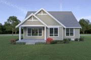 Craftsman Style House Plan - 3 Beds 2.5 Baths 1862 Sq/Ft Plan #1070-78 Exterior - Rear Elevation