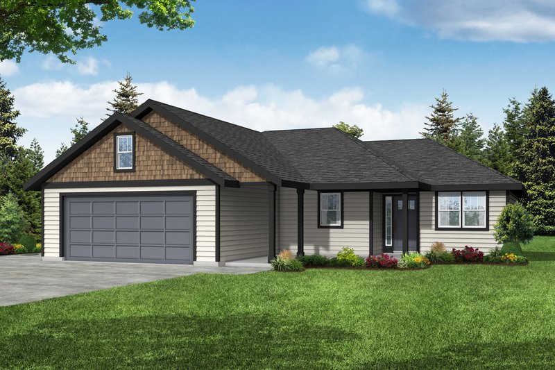 House Blueprint - Traditional Exterior - Front Elevation Plan #124-1255
