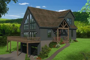 Country Exterior - Front Elevation Plan #932-204