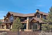 Craftsman Style House Plan - 4 Beds 4.5 Baths 3738 Sq/Ft Plan #892-1 Exterior - Rear Elevation