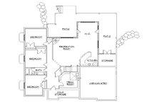 European Floor Plan - Lower Floor Plan Plan #5-266