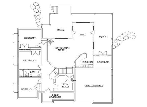 House Plan Design - European Floor Plan - Lower Floor Plan #5-266