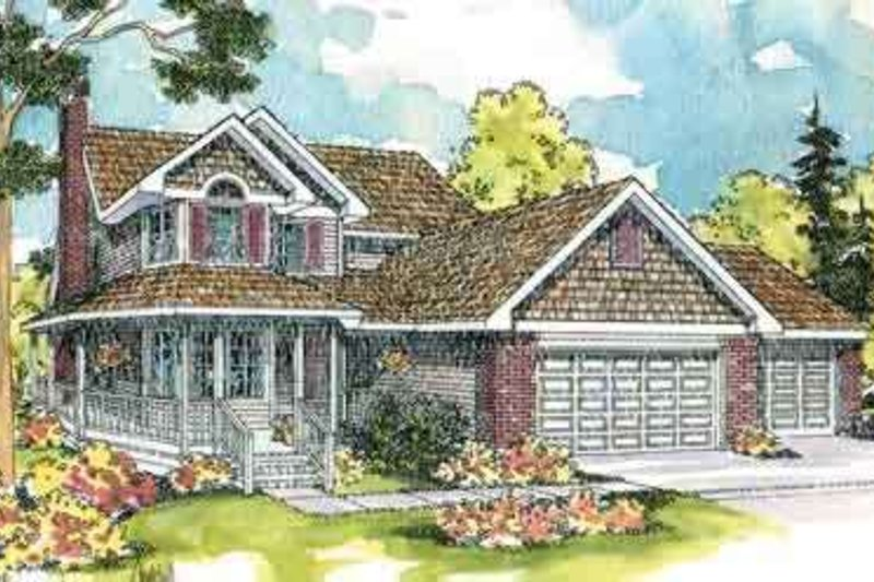 Farmhouse Exterior - Front Elevation Plan #124-419 - Houseplans.com