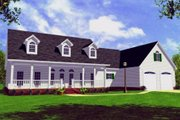 Farmhouse Style House Plan - 3 Beds 3 Baths 2100 Sq/Ft Plan #21-107 Exterior - Front Elevation