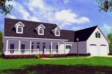 House Plan Design - Farmhouse Exterior - Front Elevation Plan #21-107