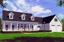 Architectural House Design - Farmhouse Exterior - Front Elevation Plan #21-107