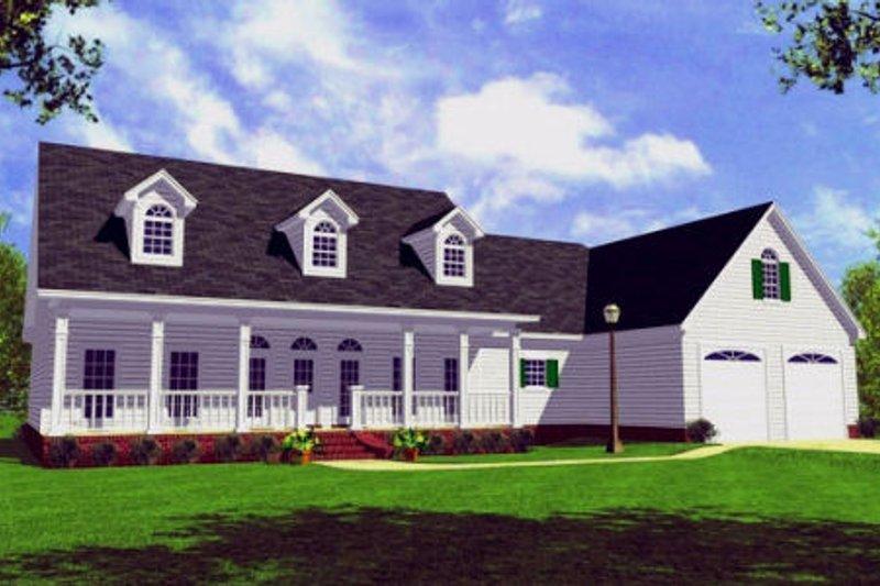 Home Plan - Farmhouse Exterior - Front Elevation Plan #21-107