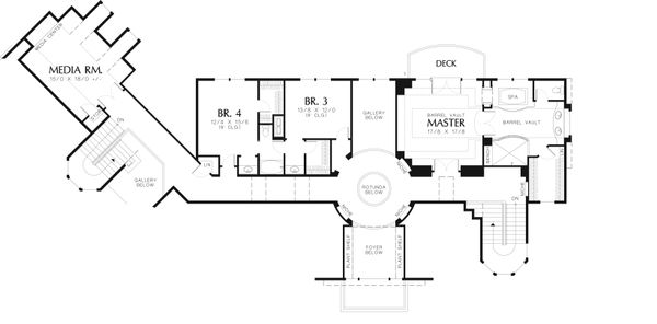 Craftsman Floor Plan - Upper Floor Plan Plan #48-616