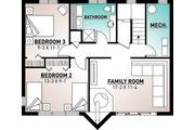 Modern Style House Plan - 3 Beds 2 Baths 1086 Sq/Ft Plan #23-2023 Floor Plan - Lower Floor Plan