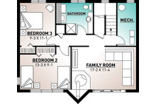 Modern Floor Plan - Lower Floor Plan Plan #23-2023