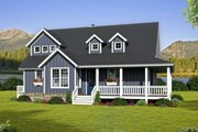 Country Style House Plan - 3 Beds 2.5 Baths 2095 Sq/Ft Plan #932-33 Exterior - Front Elevation