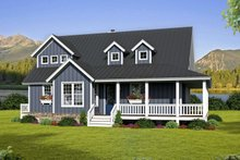Country Exterior - Front Elevation Plan #932-33