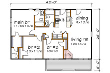 Country Floor Plan - Main Floor Plan Plan #79-118