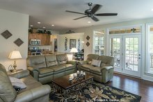 Architectural House Design - Country Interior - Family Room Plan #929-704