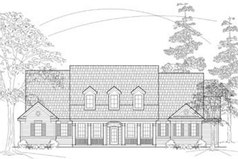 Country Exterior - Front Elevation Plan #61-105