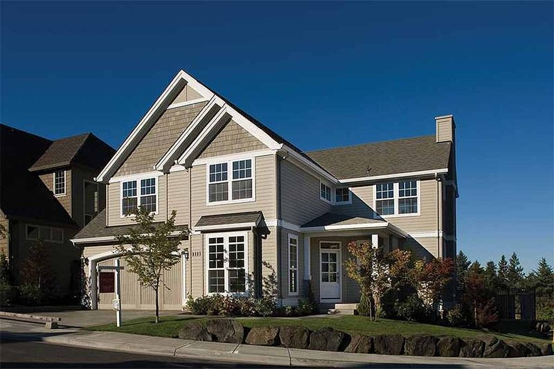 Architectural House Design - Front View - 2450 square foot Craftsman Home