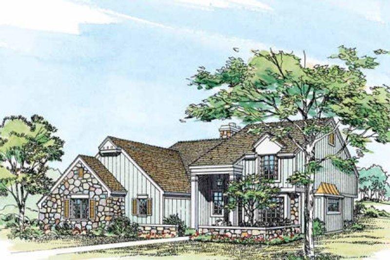 Craftsman Exterior - Other Elevation Plan #72-125 - Houseplans.com