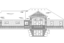 Home Plan - Traditional Exterior - Rear Elevation Plan #5-257