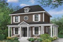 House Plan Design - Colonial Exterior - Front Elevation Plan #23-261