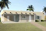 Adobe / Southwestern Style House Plan - 2 Beds 2 Baths 1060 Sq/Ft Plan #1-1046