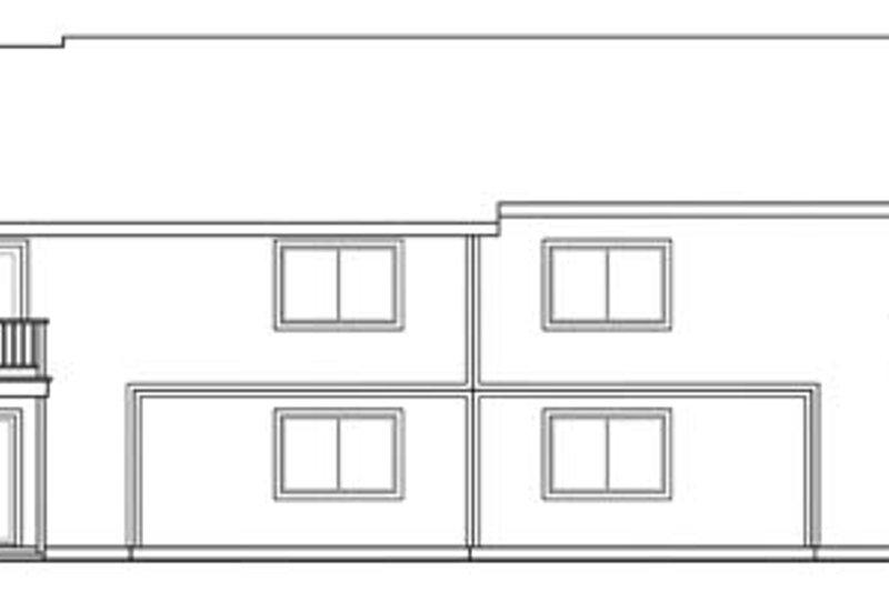 Traditional Exterior - Rear Elevation Plan #124-678 - Houseplans.com