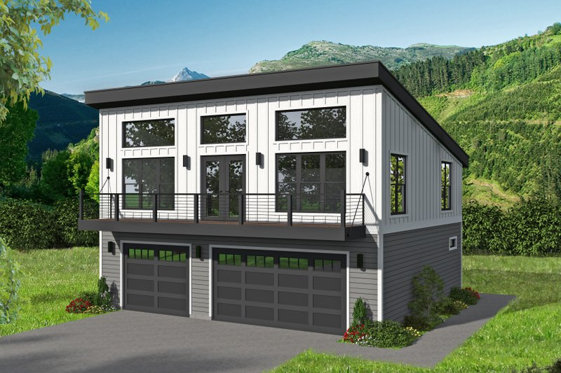 Architectural House Design - Modern Exterior - Front Elevation Plan #932-386