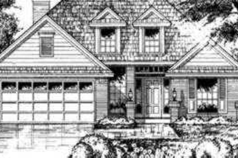 Traditional Exterior - Front Elevation Plan #40-279 - Houseplans.com