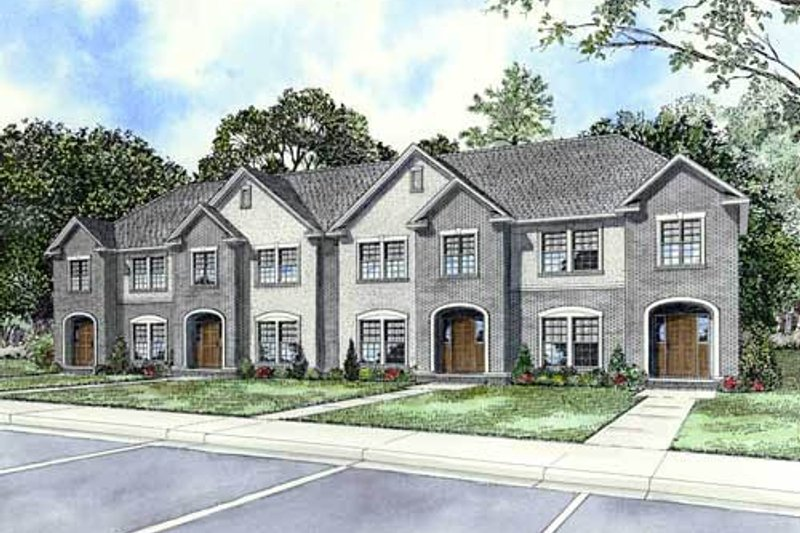 Traditional Style House Plan - 2 Beds 2.5 Baths 5196 Sq/Ft Plan #17-623 Exterior - Front Elevation
