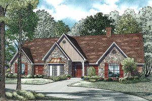Ranch Exterior - Front Elevation Plan #17-575