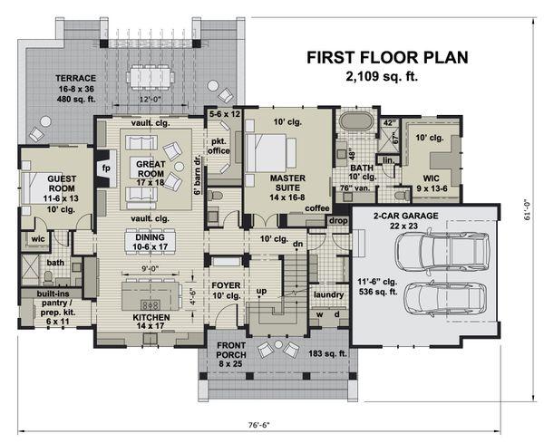 Farmhouse Floor Plan - Main Floor Plan #51-1163